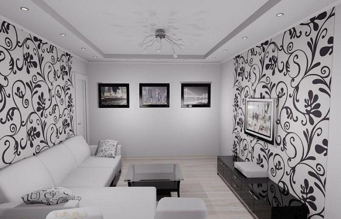 Идеи обоев для гостиной с фото